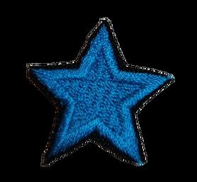 Naprasowanka / aplikacja TERMO 3 x 3 cm GWIAZDKA niebieski