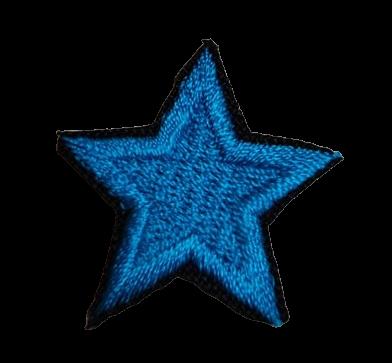Naprasowanka / aplikacja TERMO 3 x 3 cm GWIAZDKA niebieski (1)