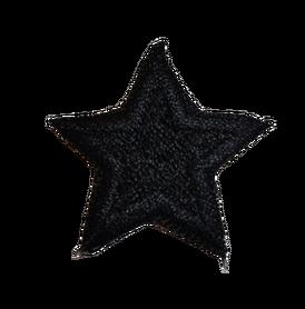 Naprasowanka / aplikacja TERMO 3 x 3 cm GWIAZDKA czarny