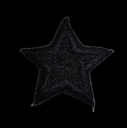 Naprasowanka / aplikacja TERMO 3 x 3 cm GWIAZDKA czarny (1)