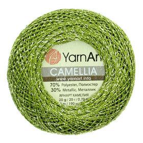 YarnArt Camellia kolor zielony 420