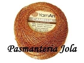 YarnArt Camellia kolor rudy/złoty 421